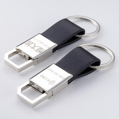Customised Leather creative metal key rings ,  corporate gifts