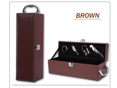 Customised Leather Wooden Wine Box with Opener Tools ,  corporate gifts