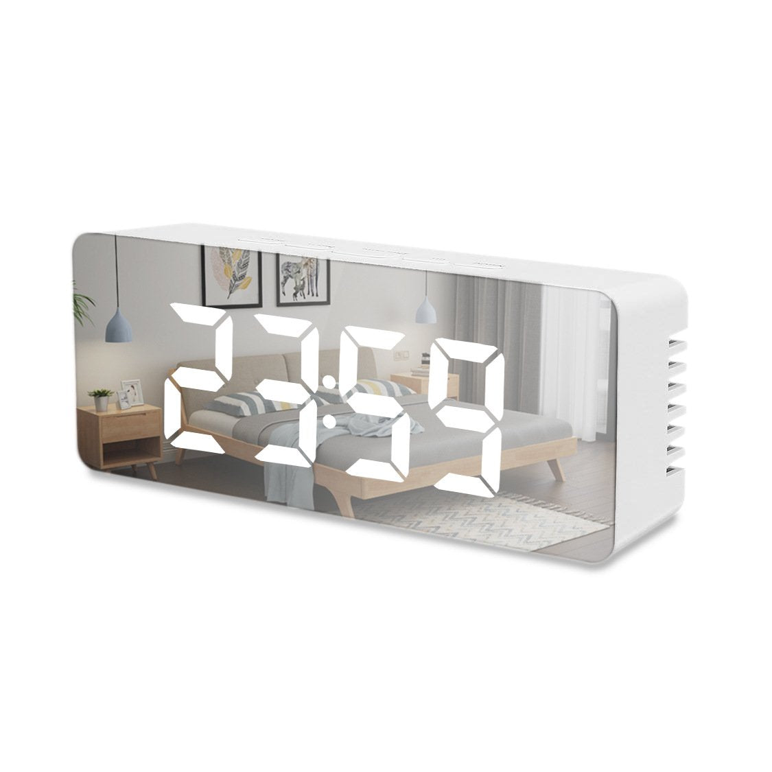 Customised multi-functional mirror electronic alarm clock ,  corporate gifts