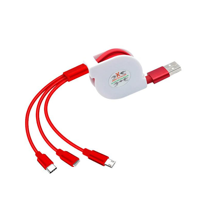 Customised One Drag Three Data Line Mobile Charging Cable ,  corporate gifts