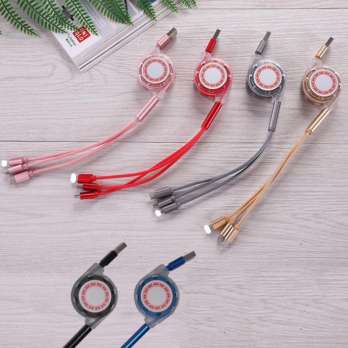 Customised One-to-three Mobile Phone Fast Charging Cable ,  corporate gifts