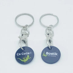 Customised Plastic coin key chain ,  corporate gifts