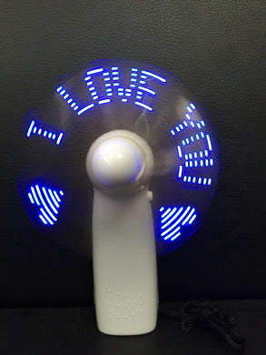 Corporate Gifts - Printed LED Flash light mini fan