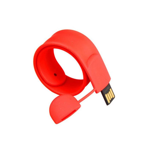 Customised Silicone snap ring wrist strap USB ,  corporate gifts