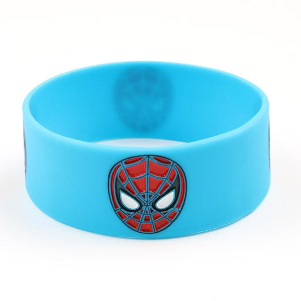Customised Spider Man two color wrist bracelet ,  corporate gifts