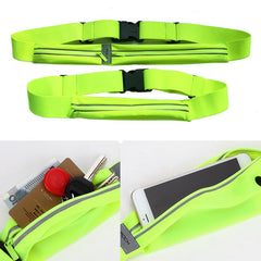 Customised Waterproof and reflective multi-functional elastic running belt ,  corporate gifts