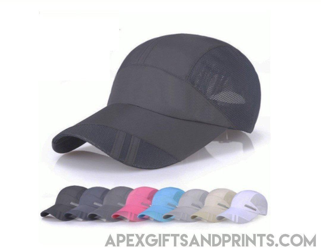 Customised Dry Fit Stripe Caps ,  corporate gifts