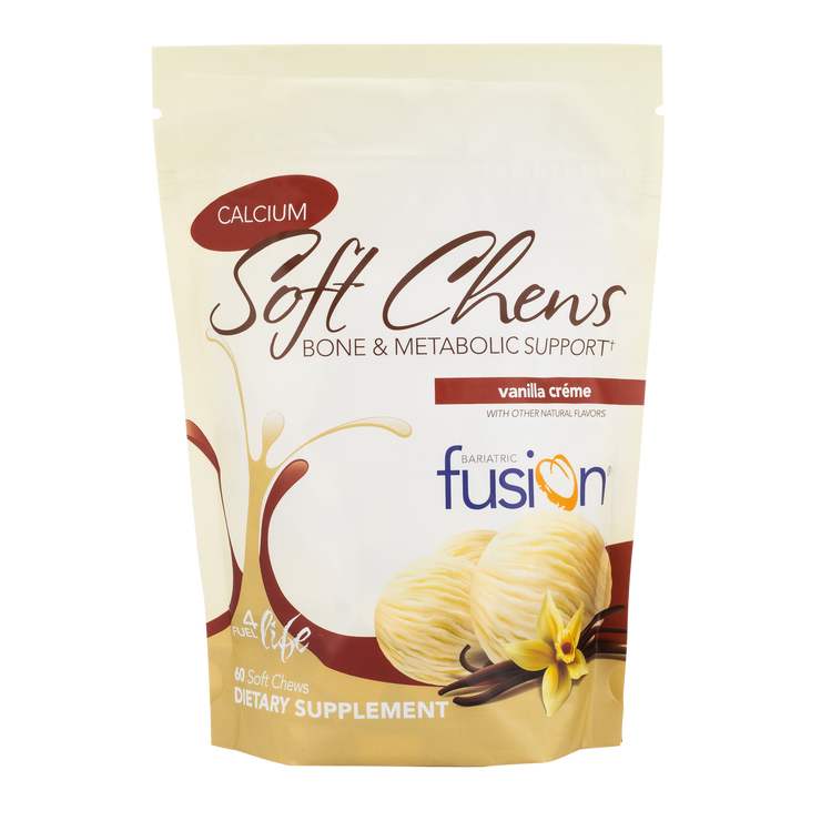 Vanilla Crème Bariatric Calcium Citrate Soft Chews - Bone & Metabolic Support - Bariatric Fusion
