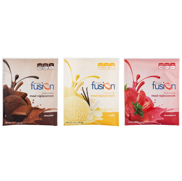 Variety Pack - High Protein Meal Replacement Single Serve Packets (10 Packets) - Bariatric Fusion