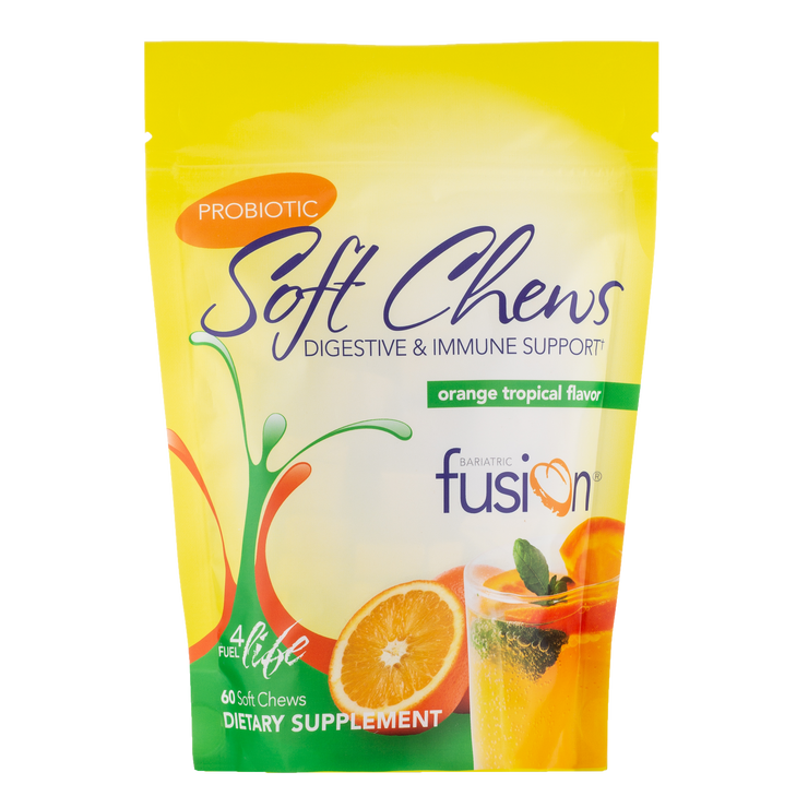 Orange Tropical Probiotic Soft Chew - Bariatric Fusion