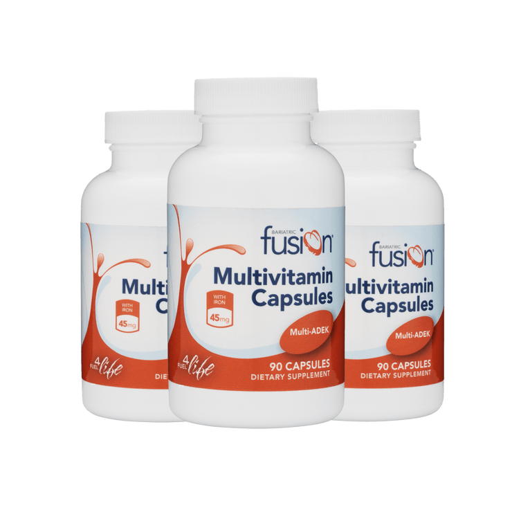 Bariatric ADEK Multivitamin Capsule with 45mg IRON - Bundle - Bariatric Fusion