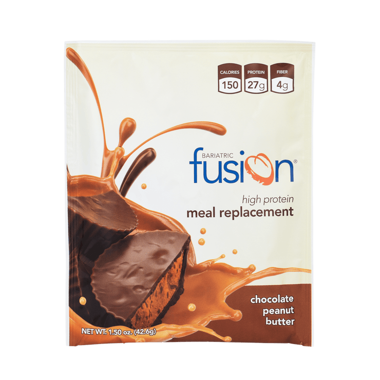 Chocolate Peanut Butter High Protein Meal Replacement - Single Serve Packet - Bariatric Fusion
