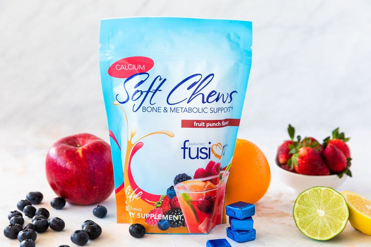 Fruit Punch Bariatric Calcium Citrate Soft Chews - Bone & Metabolic Support - Bariatric Fusion