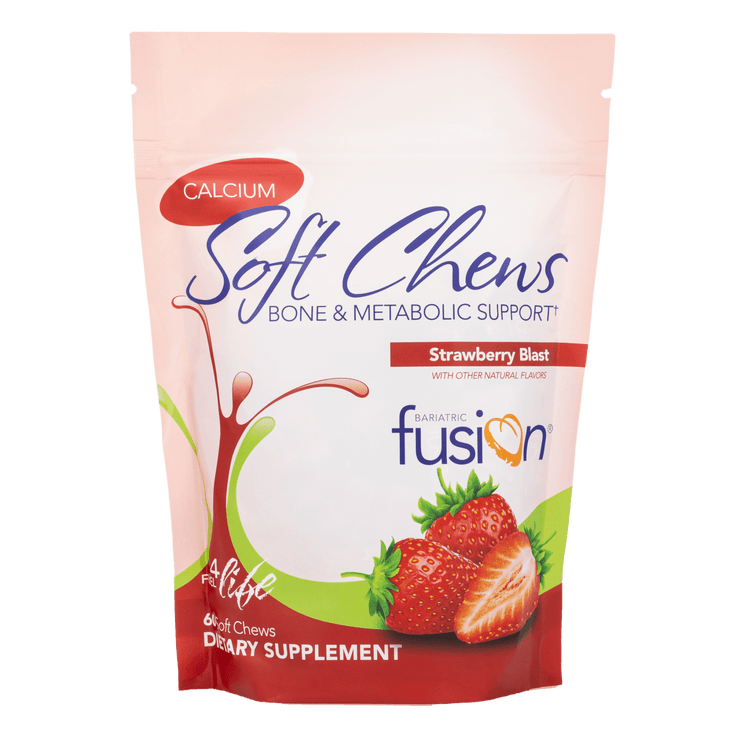Strawberry Blast Bariatric Calcium Citrate Soft Chews - Bone & Metabolic Support - Bariatric Fusion