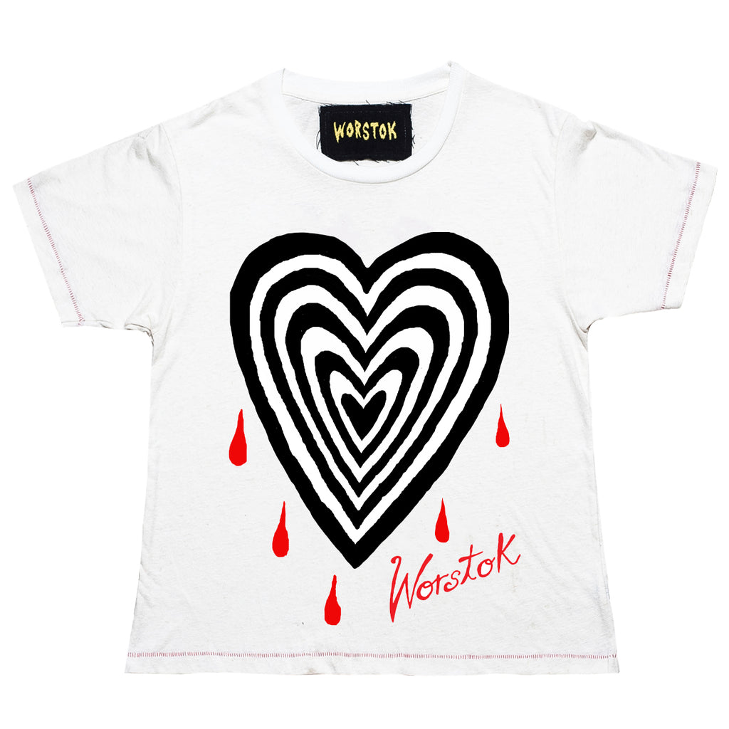 """Heartbreak"" Box T-Shirt (Bone White)"