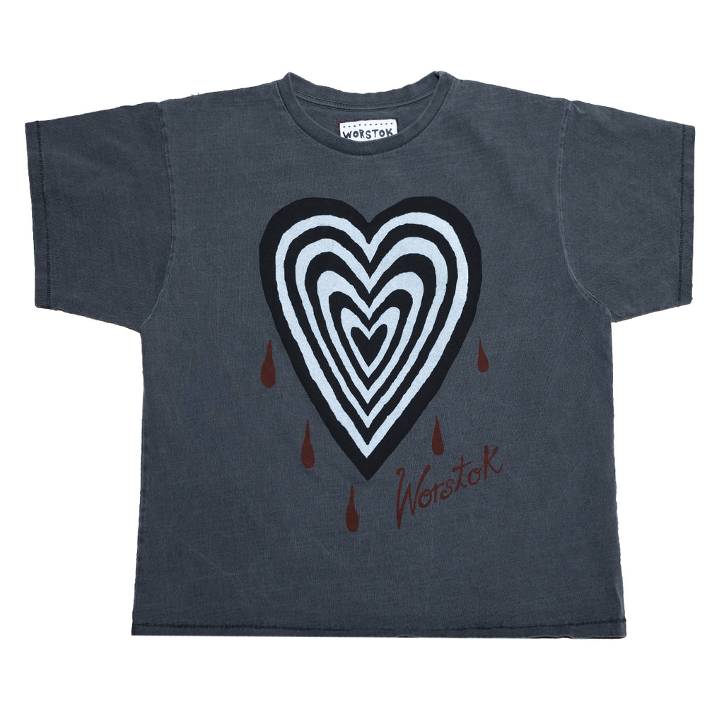 """Heartbreak"" Box T-Shirt (Charcoal)"