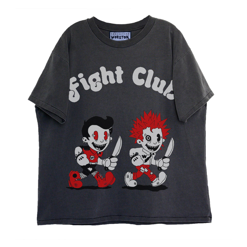"""Fight Club"" Boxy T-Shirt (Charcoal)"