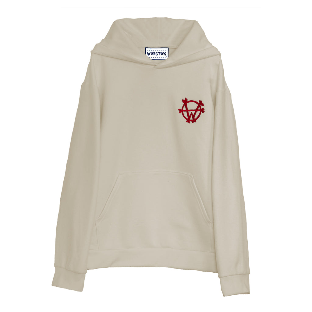 """Fight Club"" Hoodie (Bone White)"