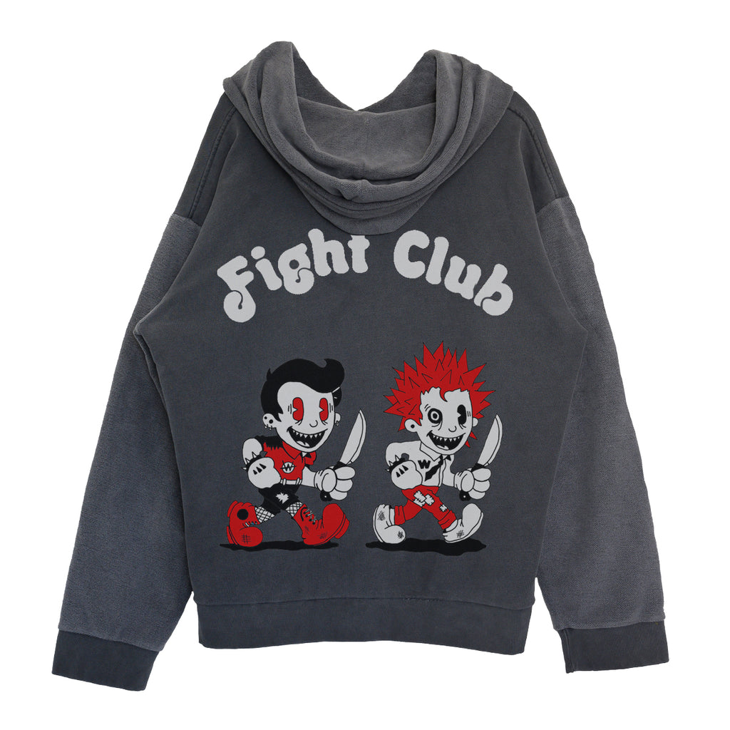 """Fight Club"" Hoodie (Charcoal)"