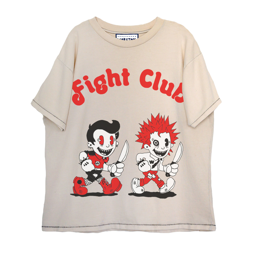 """Fight Club"" Boxy T-Shirt (Bone White)"