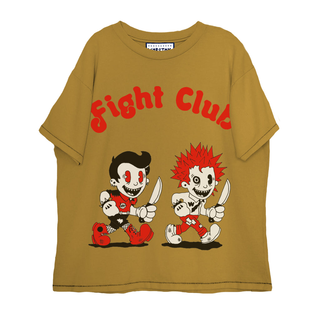 """Fight Club"" Boxy T-Shirt (Mustard)"