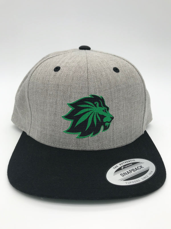 Lion Cannabis Flat Bill Snapback Hat | 420 Mile High