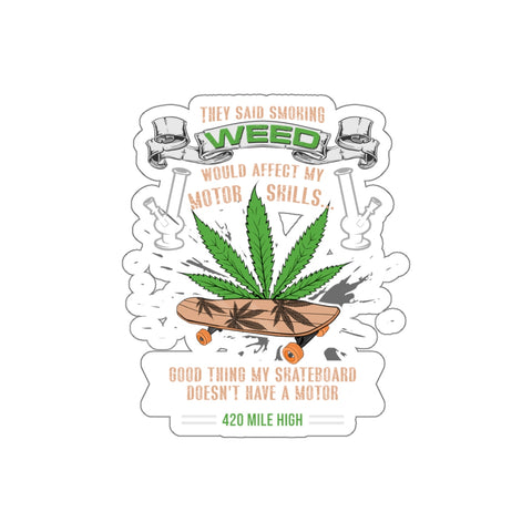 Skateboard Weed Sticker