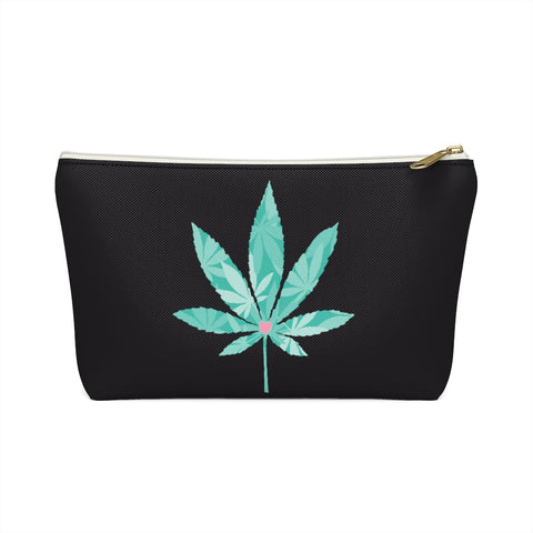 Heart Weed Accessory Pouch w T-bottom
