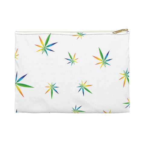 Multi-Color Weed Pattern Accessory Pouch - 420 Mile High