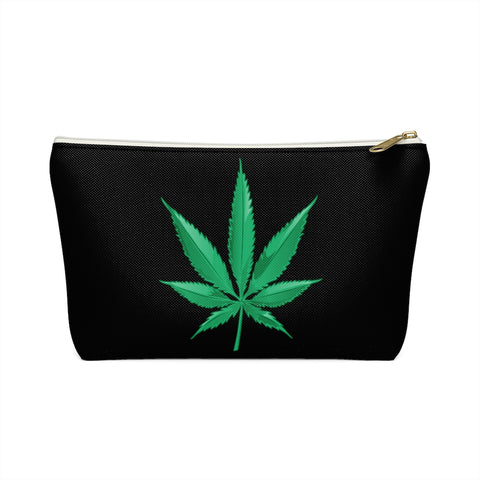 Marijuana Leaf Accessory Pouch w T-bottom