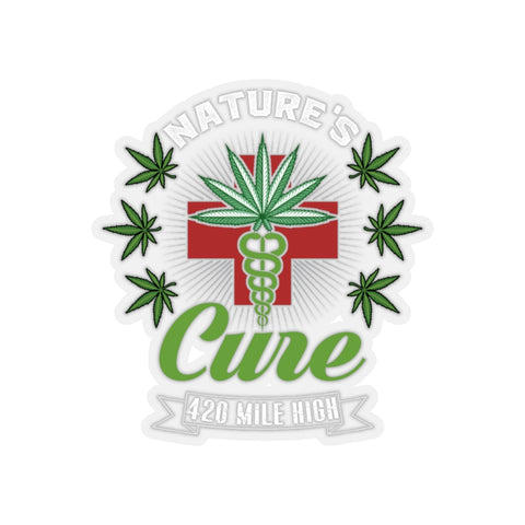 Nature's Cure 420 Weed Sticker | 420 Mile High