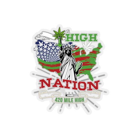 High Nation Weed Sticker