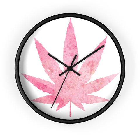 Pink Weed Wall Clock - 420 Mile High