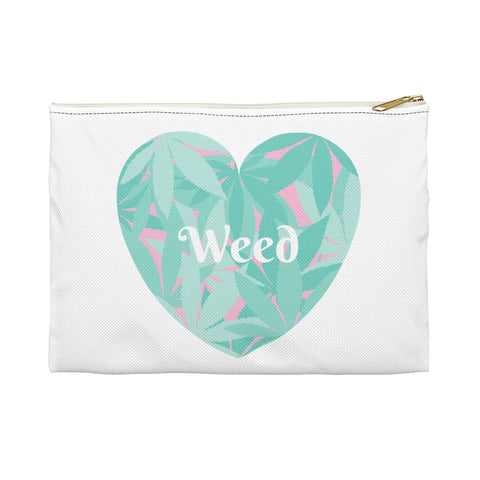 Love Weed White Accessory Pouch - 420 Mile High