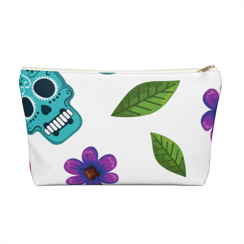 Skulls and Flowers Accessory Pouch w T-bottom | 420 Mile High