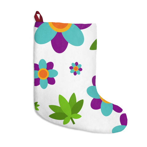 Flowers + Weed Christmas Stockings