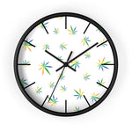 Multi-Color Weed Pattern Wall Clock - 420 Mile High