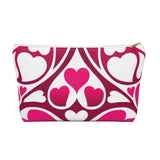 Heart Pattern Accessory Pouch w T-Bottom | 420 Mile High