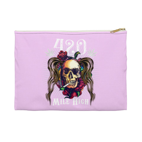 Girls Smoke Weed Accessory Pouch - 420 Mile High