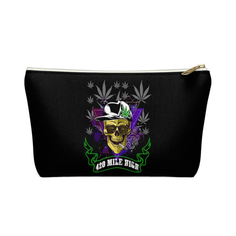 420 Mile High Party Weed Accessory Pouch w T-bottom