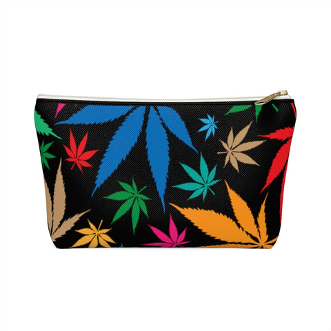 Multi-Color Weed Black Accessory Pouch w T-bottom