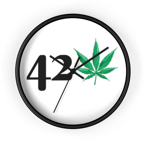 420 Weed Wall Clock - 420 Mile High