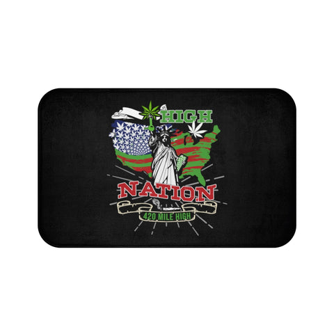 High Nation Weed Bath Mat | 420 Mile High