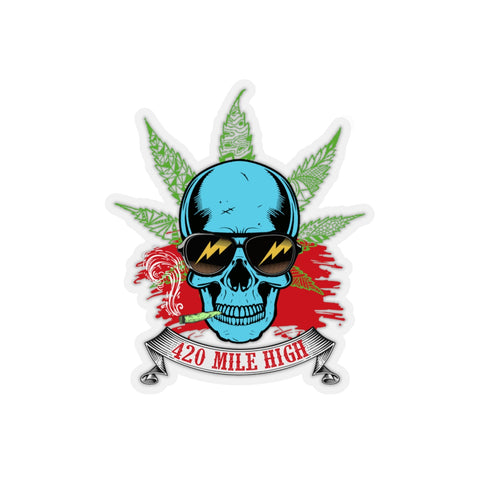 Smoking Weed Sticker