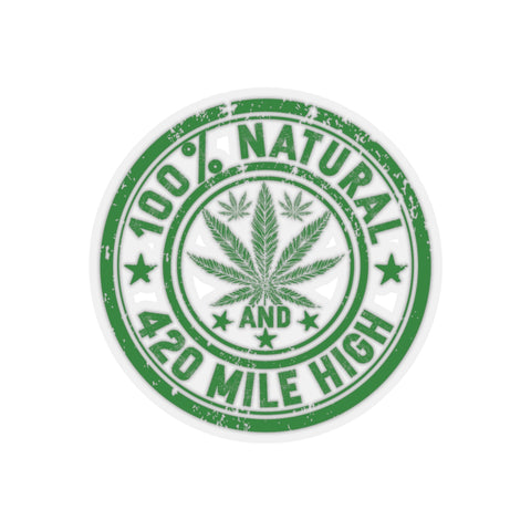 100% Natural Weed Sticker