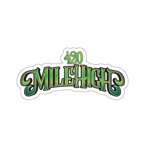 420 Mile High Green Logo Sticker - 420 Mile High