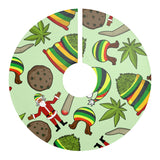 Christmas Weed Christmas Tree Skirt