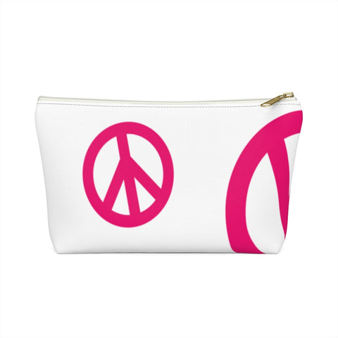 Peace Signs Accessory Pouch w T-bottom | 420 Mile High
