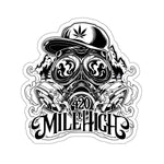 420 Mile High Black & White Logo Sticker - 420 Mile High