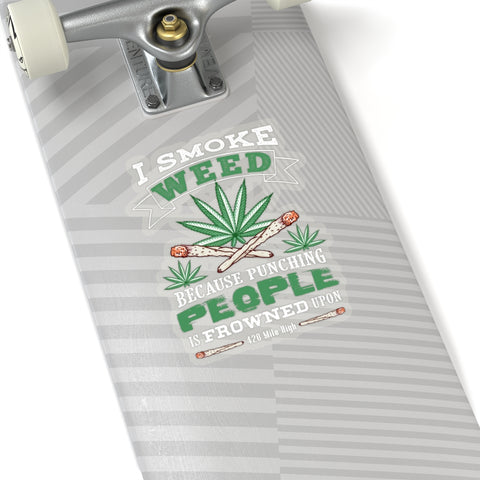 420 I Smoke Weed Stickers | 420 Mile High